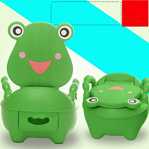 Children's Toilet Frog Shape Potty 1-6 Years Old Urinal Drawer Design 2 Colors (Color : Dark Green) from Jiaxuan