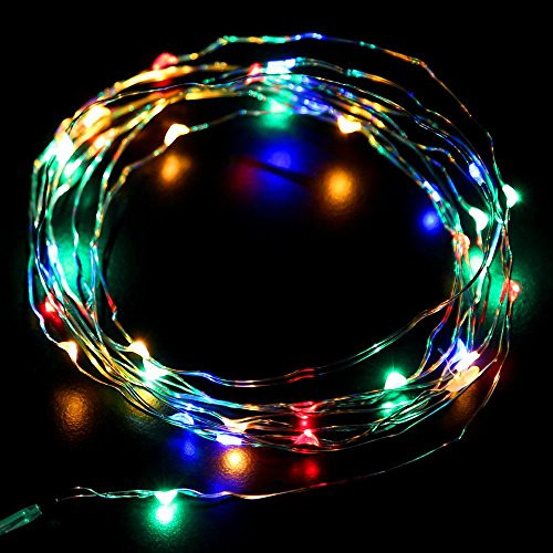 JnDee™ 20M 200 LED Micro Copper Wire Mains Powered Fairy Lights for House Decorations, Christmas Tree and Christmas Decorations, Good for interior Design ideas (200LED, Multi-Coloured) from JnDee