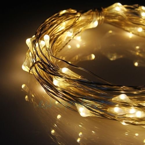 JnDee™ 20M 200 LED Micro Copper Wire Mains Powered Fairy Lights for House Decorations, Christmas Tree and Christmas Decorations, Good for interior Design ideas (200LED, Warm White) from JnDee