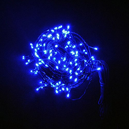 JnDee™ Fully Waterproof Fairy Lights 12M 100 LED BLUE Colour with 8 Light Effects Functions, for Both Indoor and Outdoor Christmas Tree Wedding Parties Decoration from JnDee