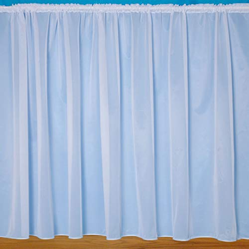 "John Aird Denise - Plain White Net Curtain With Weighted Base - Width Sold By The Metre Drop: 72"" (183cm) from John Aird"