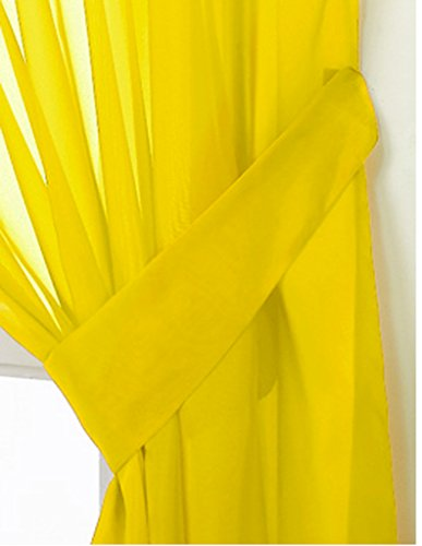 John Aird Pair Of Voile Tie Backs (Yellow) from John Aird