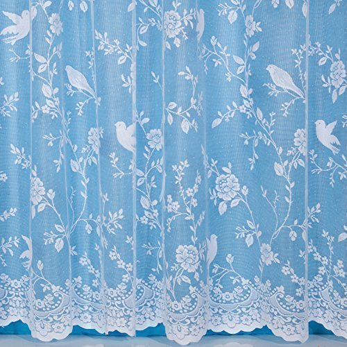 "John Aird Robyn Design Net Curtain - Width Sold By The Metre (Drop: 72"" / 183cm) from John Aird"