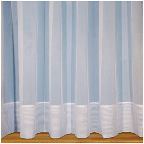 "John Aird Sarah - Plain White Net Curtain With Envelope Base - Width Sold By The Metre Drop: 48"" (122cm) from John Aird"