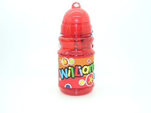Personalised Name 'ISLA' Handy Flip Top Water Bottle Flask Cup Pop Out Straw