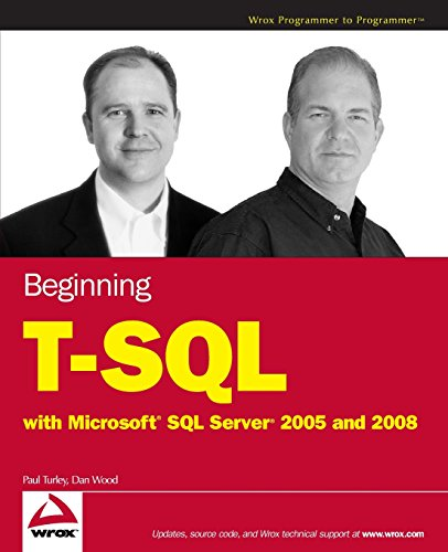 Begin T-SQL 2008 w/WS (Wrox Programmer to Programmer) from John Wiley & Sons