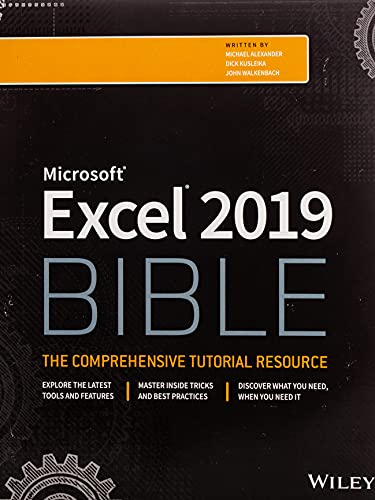 Excel 2019 Bible from John Wiley & Sons