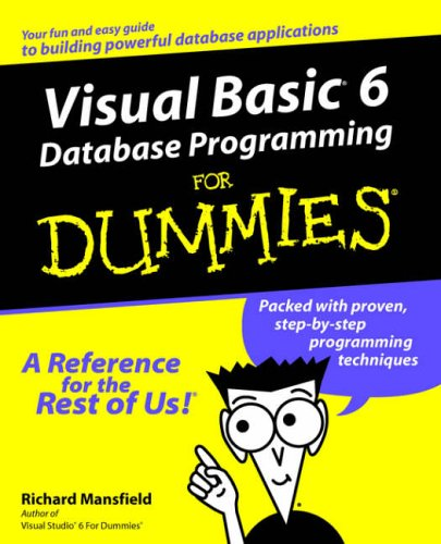 Visual Basic 6 Database Prog For Dummies from John Wiley & Sons