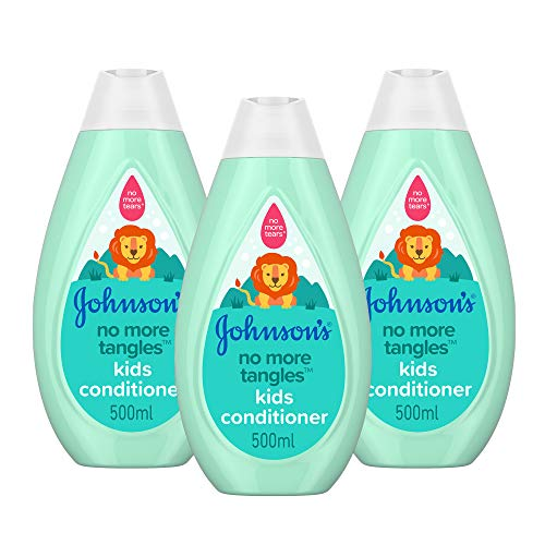 JOHNSON'S No More Tangles Kids Conditioner Multipack - Leaves Hair Soft and Smooth - pH Balanced for Delicate Skin - 3 x 500 ml from Johnson's Baby