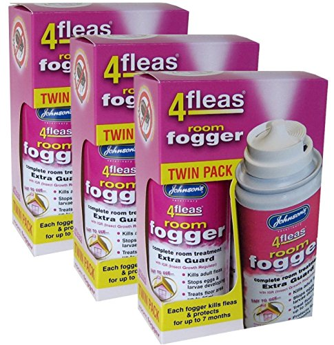 3 X Johnson's Veterinary Flea Killer Bomb Room Fogger Multi pack (Pack of 2) from Johnson's