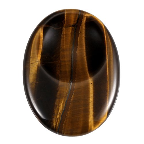 Jovivi Natural Tiger Eye Thumb Worry Stone Chakra Pocket Palm Stones Energy Reiki Healing Crystals Therapy Geometry from Jovivi