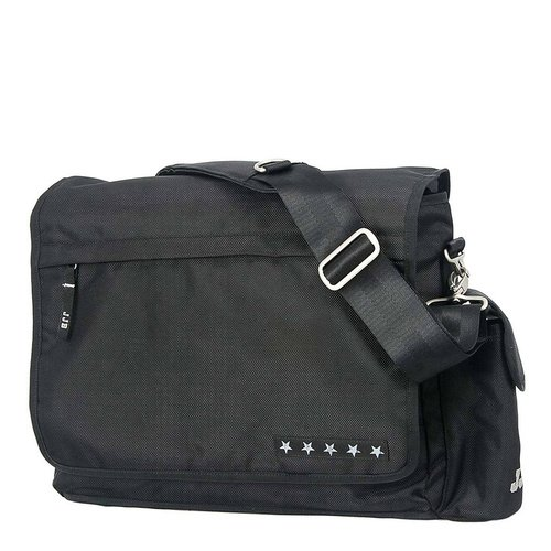 Ju-Ju-Be - Messenger Changing Bag, Black Silver from Ju Ju Be
