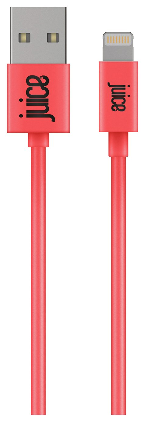 Juice USB to Lightning 2m Charging Cable - Coral from Juice