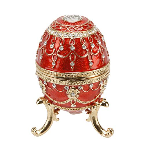Large Red Ornate Egg Treasured Trinkets Keepsake Box Juliana 15056 by Juliana from Juliana