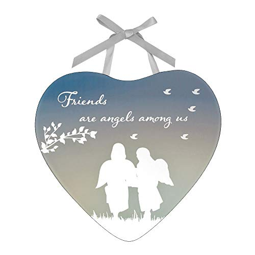 Reflections From The Heart Mirror Plaque - Friends are Angels Among Us from Juliana