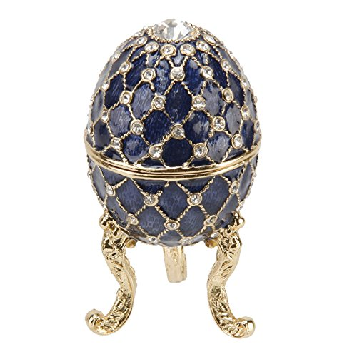 Royal Blue Ornate Egg Treasured Trinkets Keepsake Box Juliana 15050 from Juliana