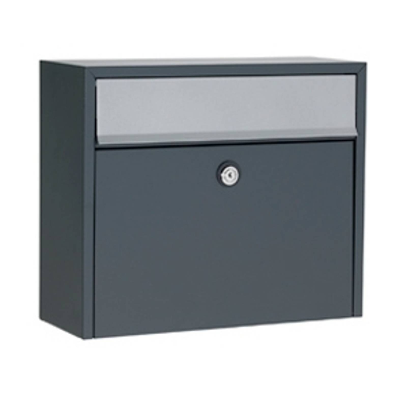 Simple letterbox LT150, anthracite, Euro lock from Juliana