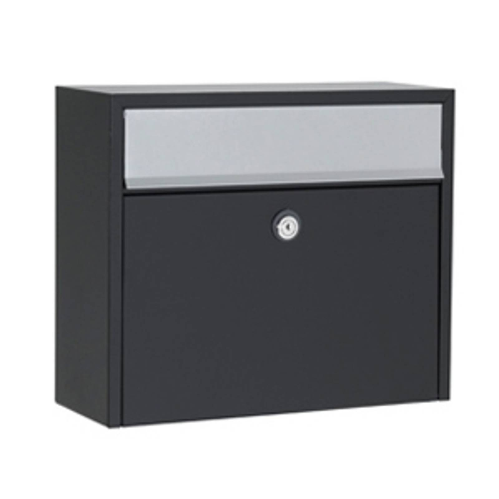 Simple letterbox LT150, black, Euro lock from Juliana