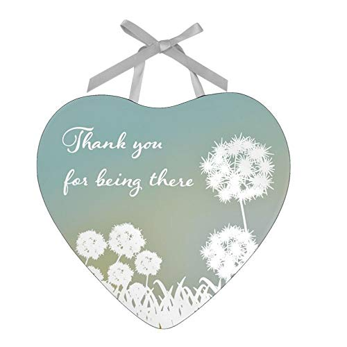 Thank You for being there Reflections from the Heart Mirrored Hanging Plaque from Juliana