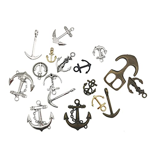 Julie Wang Mixed Antiqued Style Alloy Ramdon Boat Anchors Charms Jewelry Pendants 40Pcs from JulieL
