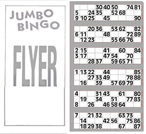 Jumbo Bingo Tickets pads 6 to view (Grey) from JUMBO