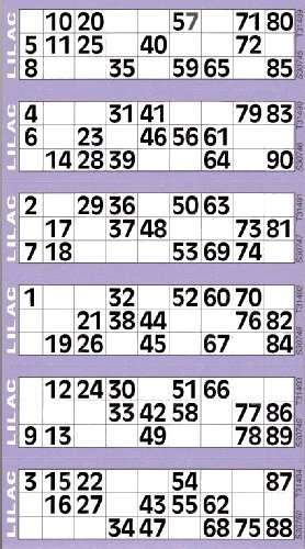 Jumbo Bingo Tickets pads 6 to view (Lilac) from JUMBO
