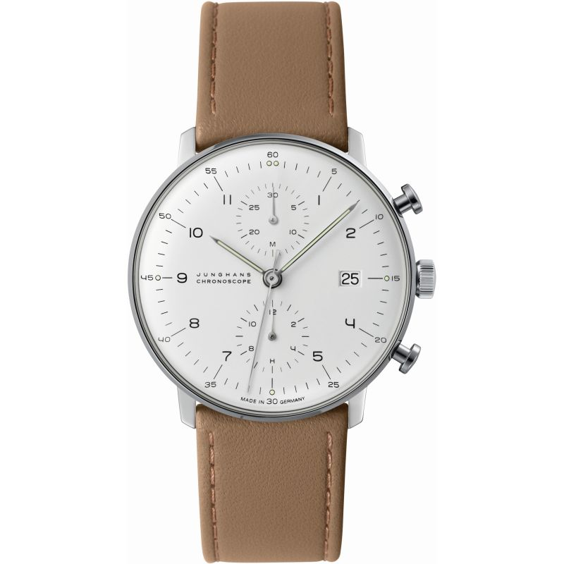 Mens Junghans Max Bill Chronoscope Automatic Chronograph Watch from Junghans