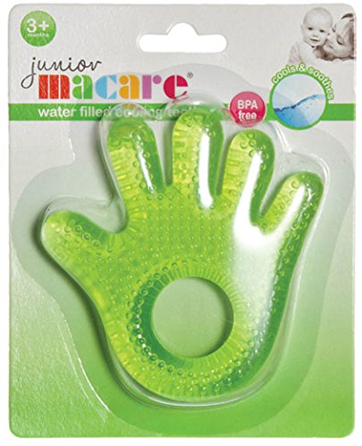 Junior Macare Water Filled Cooling Teether (Hand Shape Green) from Junior Macare