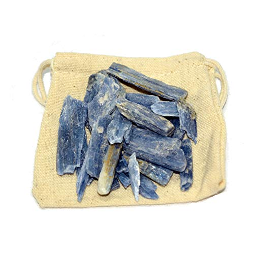 Jurassic Jacks 25 Kyanite Blades Natural Blue Healing Crystals with Cotton Pouch from Jurassic Jacks