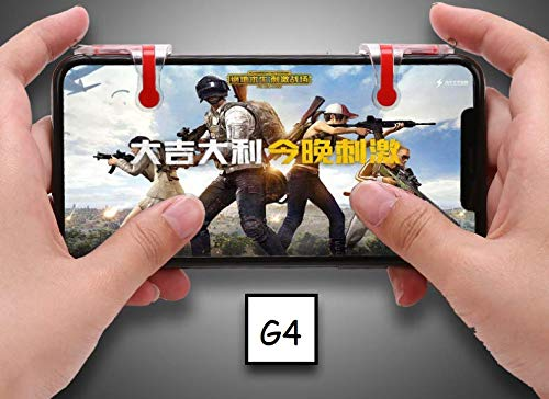 Just Accessories® G4 Mobile Gaming Controller/Trigger For PUBG Mobile/Knives Out/Rules of Survival - Sensitive Shoot and Aim Trigger L1 R1 Compatible with Android & iPhone Mobile Phones from Just Accessories®