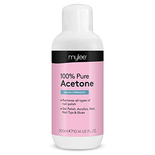 Mylee 100% Pure Acetone 300ml Superior Quality Nail Polish Remover UV/LED GEL Soak Off from MYLEE