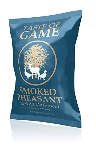 Taste of Game Crisps Smoked Pheasant & Wild Mushroom 24 x 40g from Just Crisps