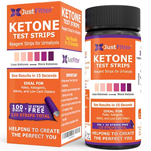 Just Fitter Ketone Test Strips. Lose Weight, Look and Feel Fabulous on a Low Carb Ketogenic Diet. Get Your Body Back! Accurately Measure Your Fat Burning Ketosis Levels in 15 Seconds. 125 Strips. from Just Fitter