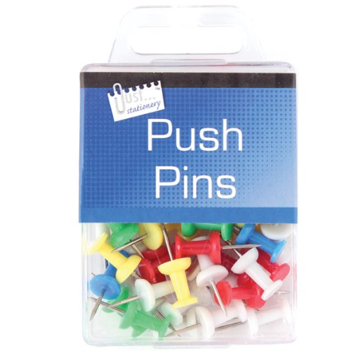 Just Stationery Hanging Box Push Pin (Pack of 50) from Just stationery