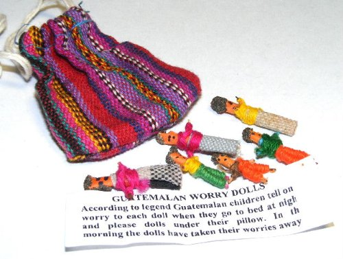 Worry Dolls: Set of 6 in a colorful bag from Just4ugifts