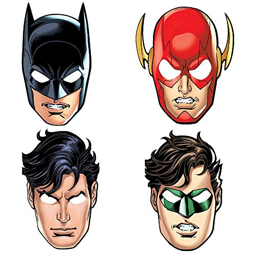 Unique Party 49971 - Justice League Party Masks, Pack of 8 from Unique Party