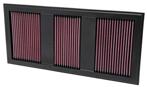 K&N Engine Air Filter: High Performance, Premium, Washable, Panel Replacement Filter: 2011-2017 (S400 Hybrid, E350, SLK, C350, E400, GLK350, ML350, E 400, and other select models), 33-2985 from K&N