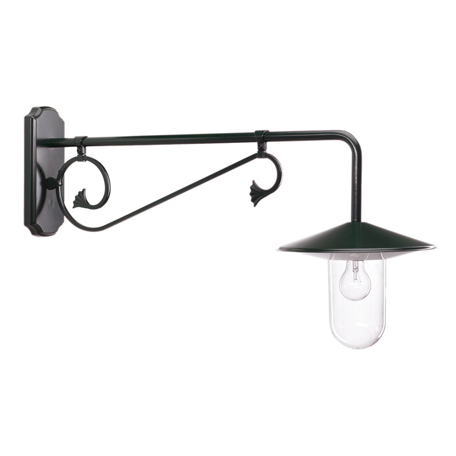 Outdoor wall light Louvre, 90 cm deep, grey/matt from K. S. Verlichting