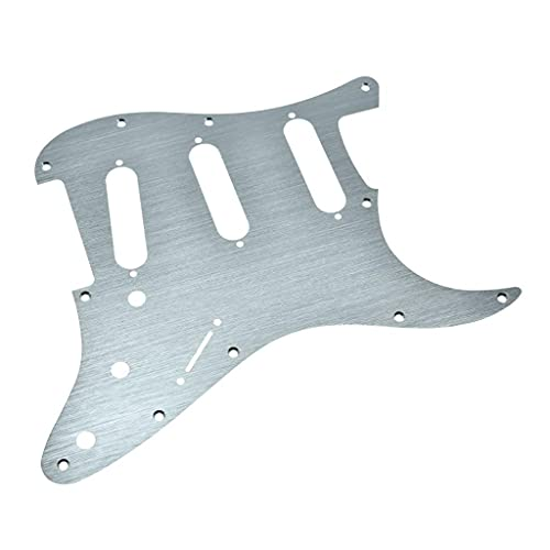 KAISH 11 Hole ST Strat SSS Metal Guitar Pickguard Aluminum Scrach Plate for USA/Mexican Fender Stratocaster Silver from KAISH