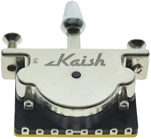 KAISH Heavy Duty 5 Way Guitar Pickup Lever Switch Guitar Pickup Selector Switch for Strat Tele with Plastic Chrome Tip from KAISH