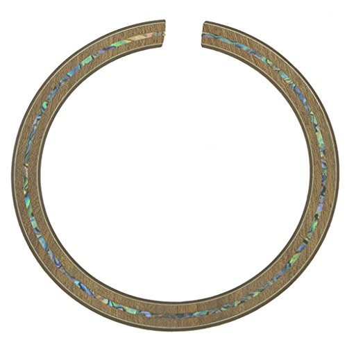 KAISH High Qaulity 110*12*0.8mm Acoustic Guitar Soundhole Sapelli Rosette Full Abalone Shell Inlay from KAISH