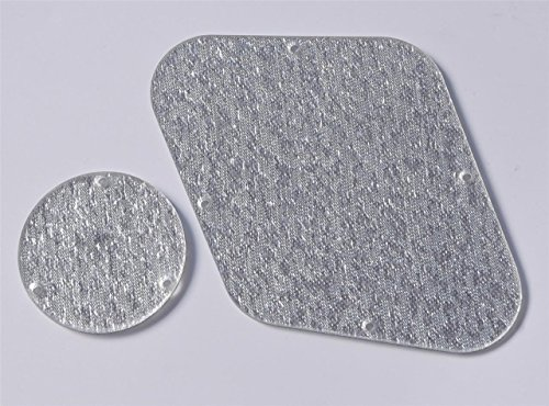 KAISH Silver Sparkle LP Rear Control Plate Switch Cavity Covers for Gibson Les Paul from KAISH