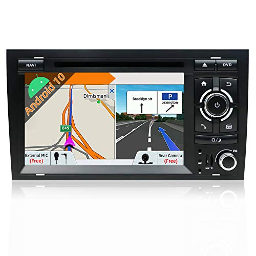 Android 7.1 Double Din Car Stereo for Audi A4(2003-2011) CD DVD Player Car Radio Bluetooth Sat Nav 1024 * 600 Head Unit Support Mirror Link DAB+ Subwoofer WIFI AV Out SWC AUX Canbus & Camera from KC Navigation