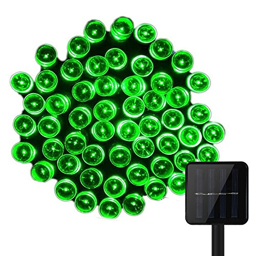 55ft 17M 100 LED Solar Powered Fairy String Lights, KEEDA® Waterproof Christmas Lights for Homes, Christmas, Xmas, Wedding, Party, Garden, Patio , Holiday, Indoor, Outdoor Decorations (Green) from KEEDA