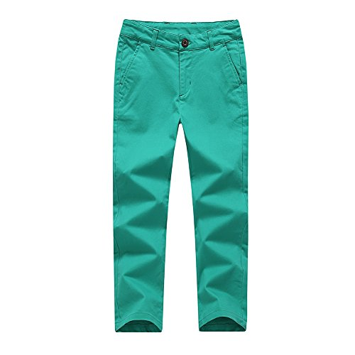 KID1234 Boys Trousers Chino Cotton Trousers Lightweight Elasticated Waist Pants Smart Formal Trousers for Boys 4-14 Years from KID1234