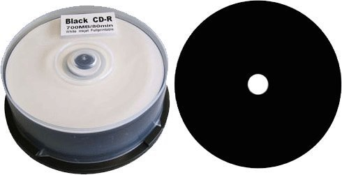 King of Flash CD-R 52x 80min/700MB Black Inkjet Fullsurface-Printable Cake25 - MR241 from KING OF FLASH