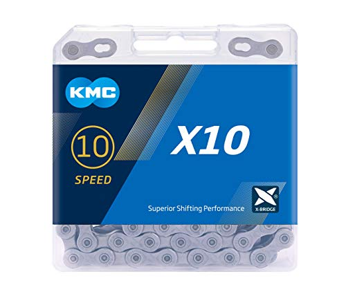 KMC Unisex's X10 Chain, Grey, 114 Link from KMC