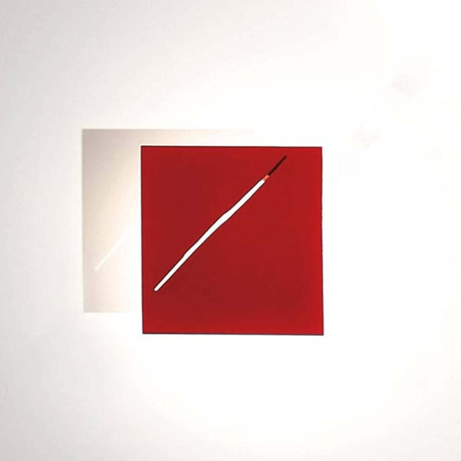 Designer wall light Des.agn with LEDs, red from Knikerboker