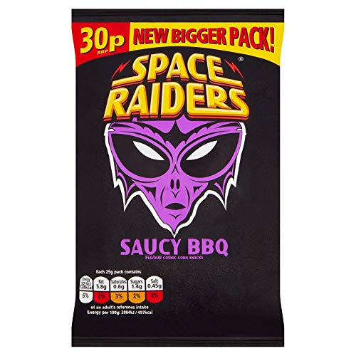 Space Raiders Saucy BBQ (40 x 22g Bags) from KP