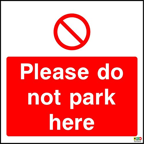 15cmx15cm Do Not Park Here (Self Adhesive Sticker Label Sign) from KPCM Display